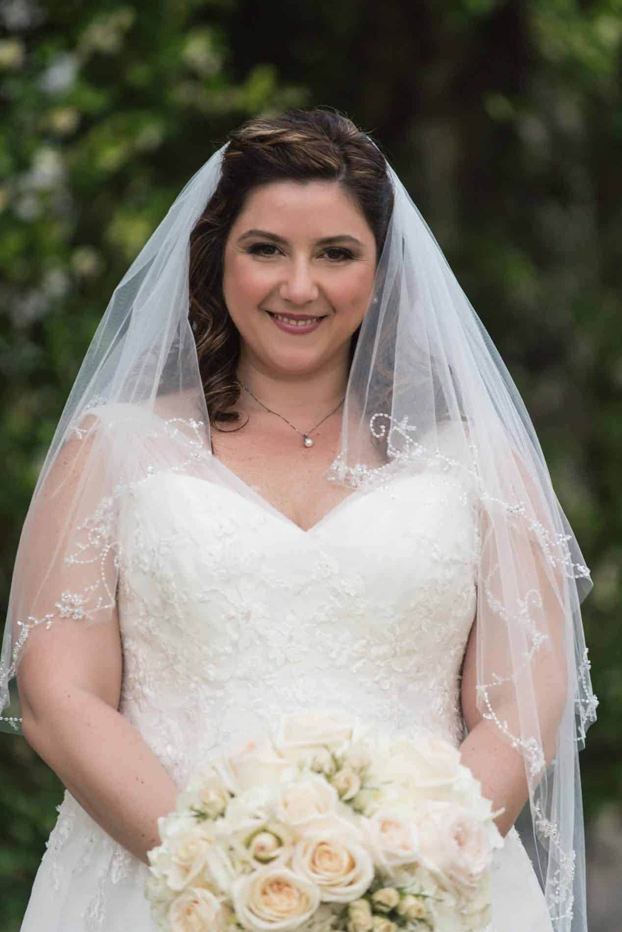 Beautiful Italian Bride on the day of her Lake Mary Italian Wedding
