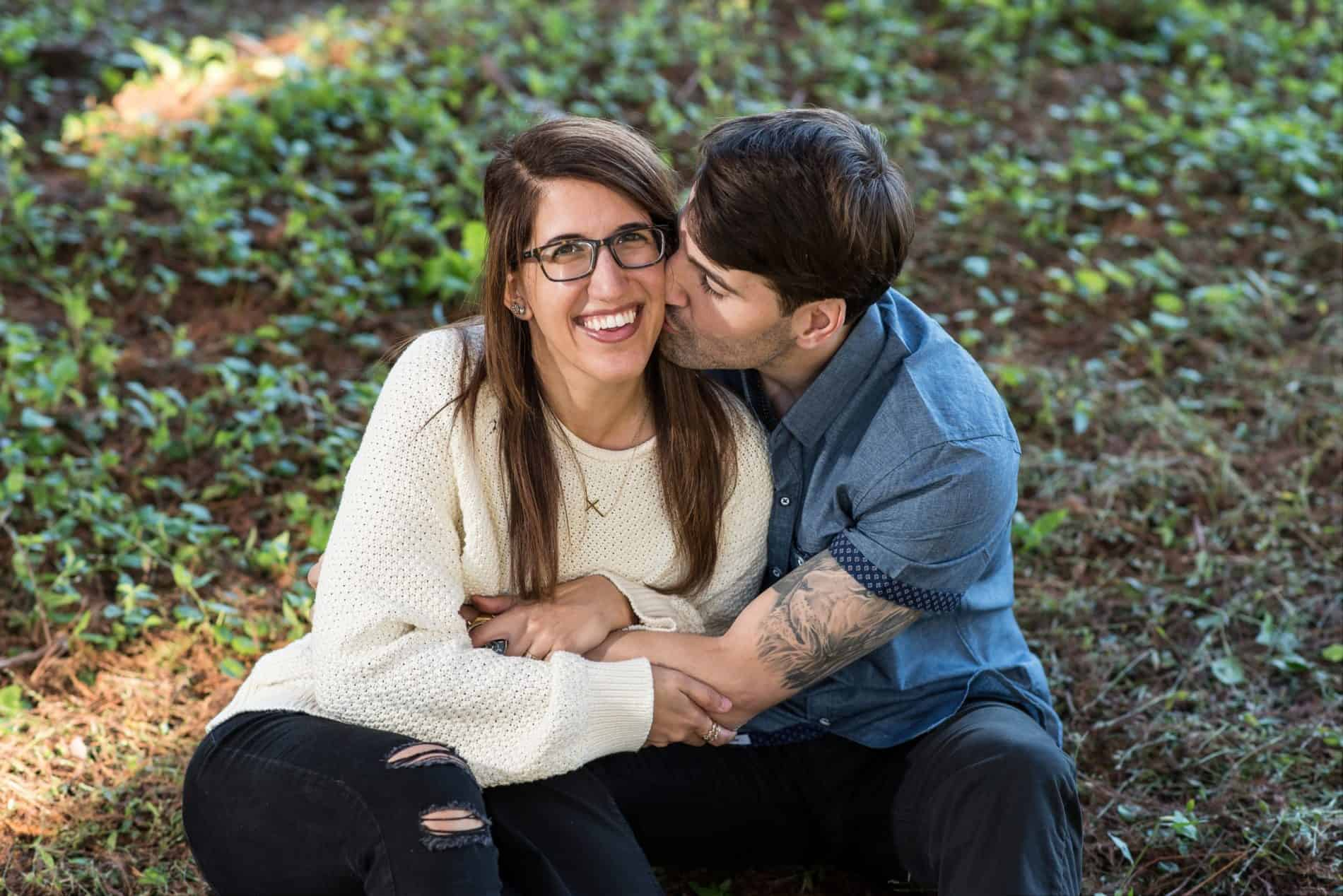 Orlando Engaged Couple in a Park