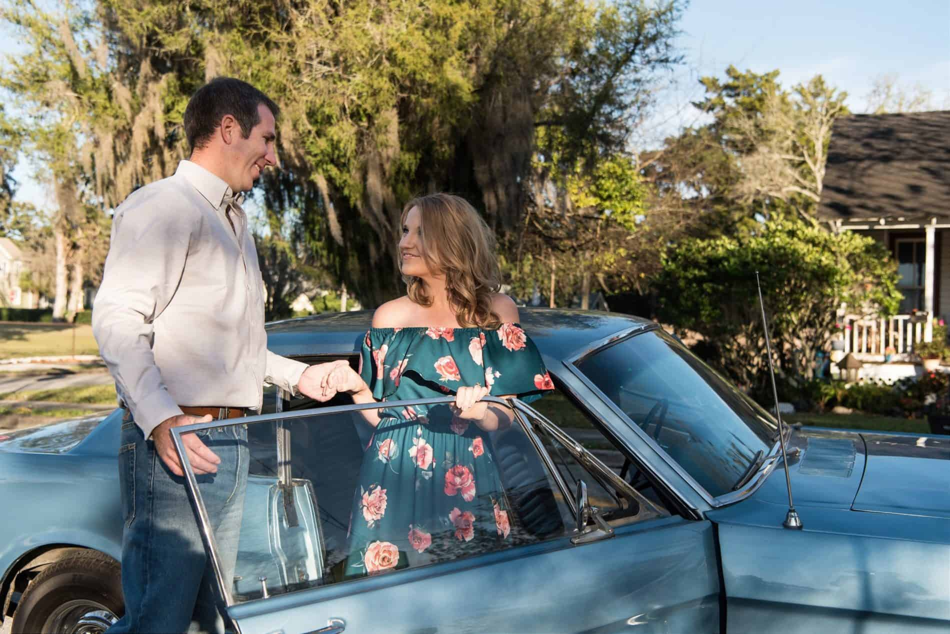 Oh So Romantic in December Downtown Ocala Engagement Photos