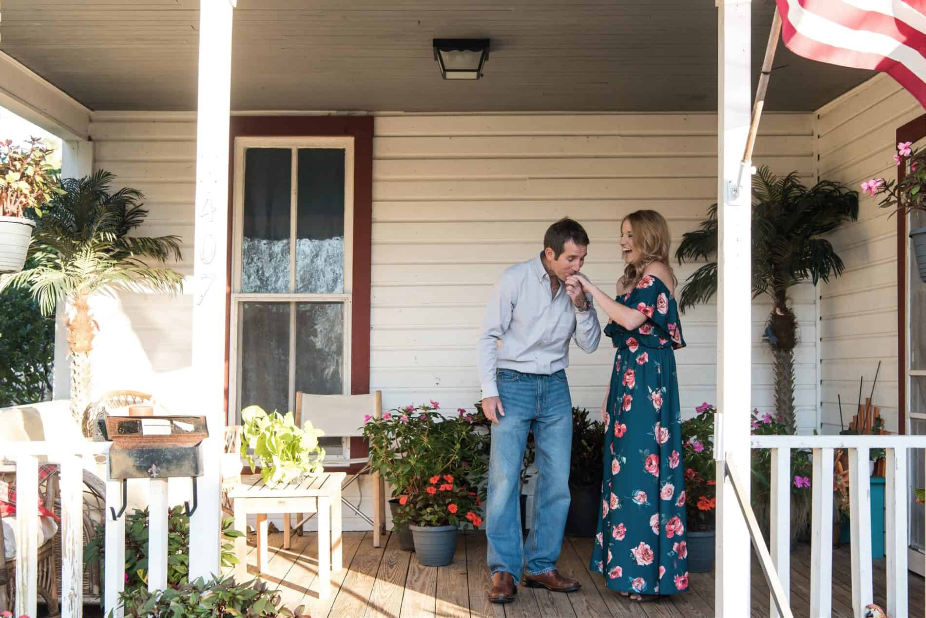 Downtown Ocala Engagement Photos - Oh So Romantic in December